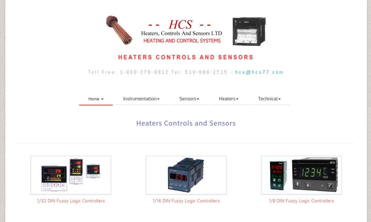 HCS - Heaters Controls and Sensors