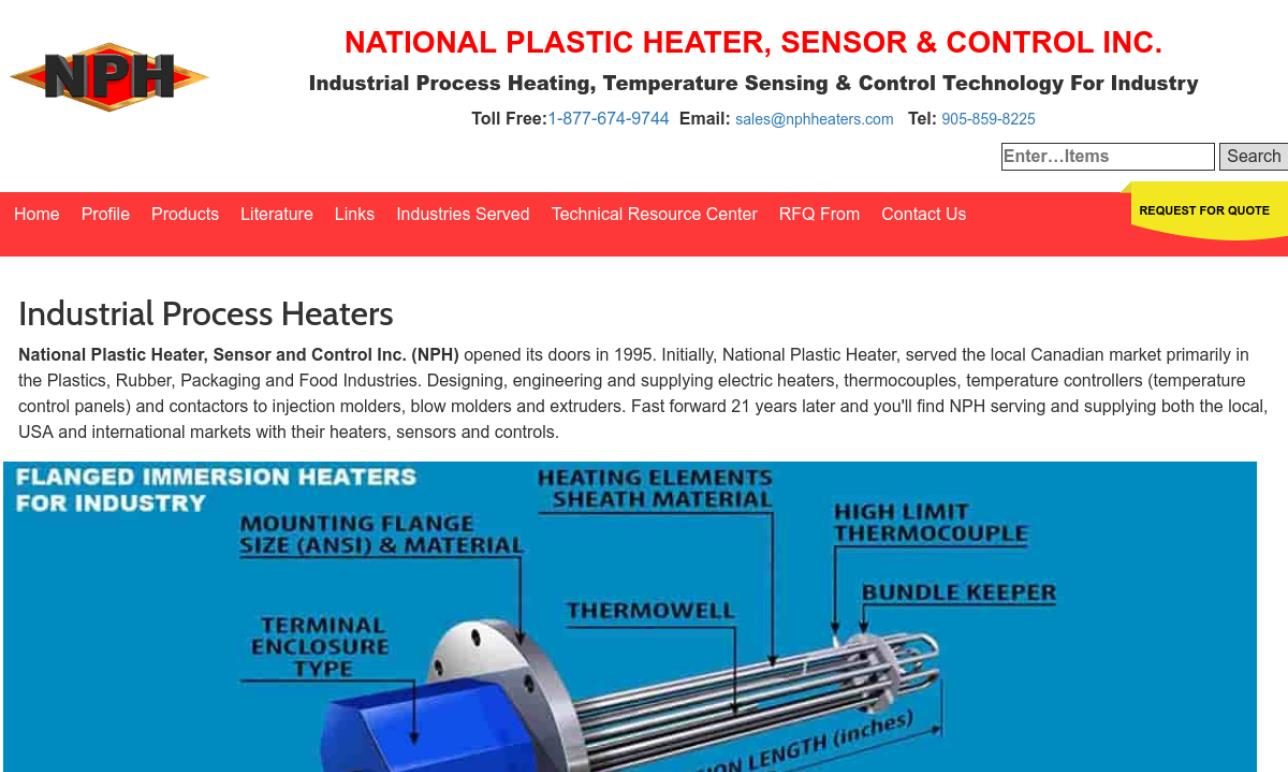 National Plastic Heater Sensor & Control Inc.