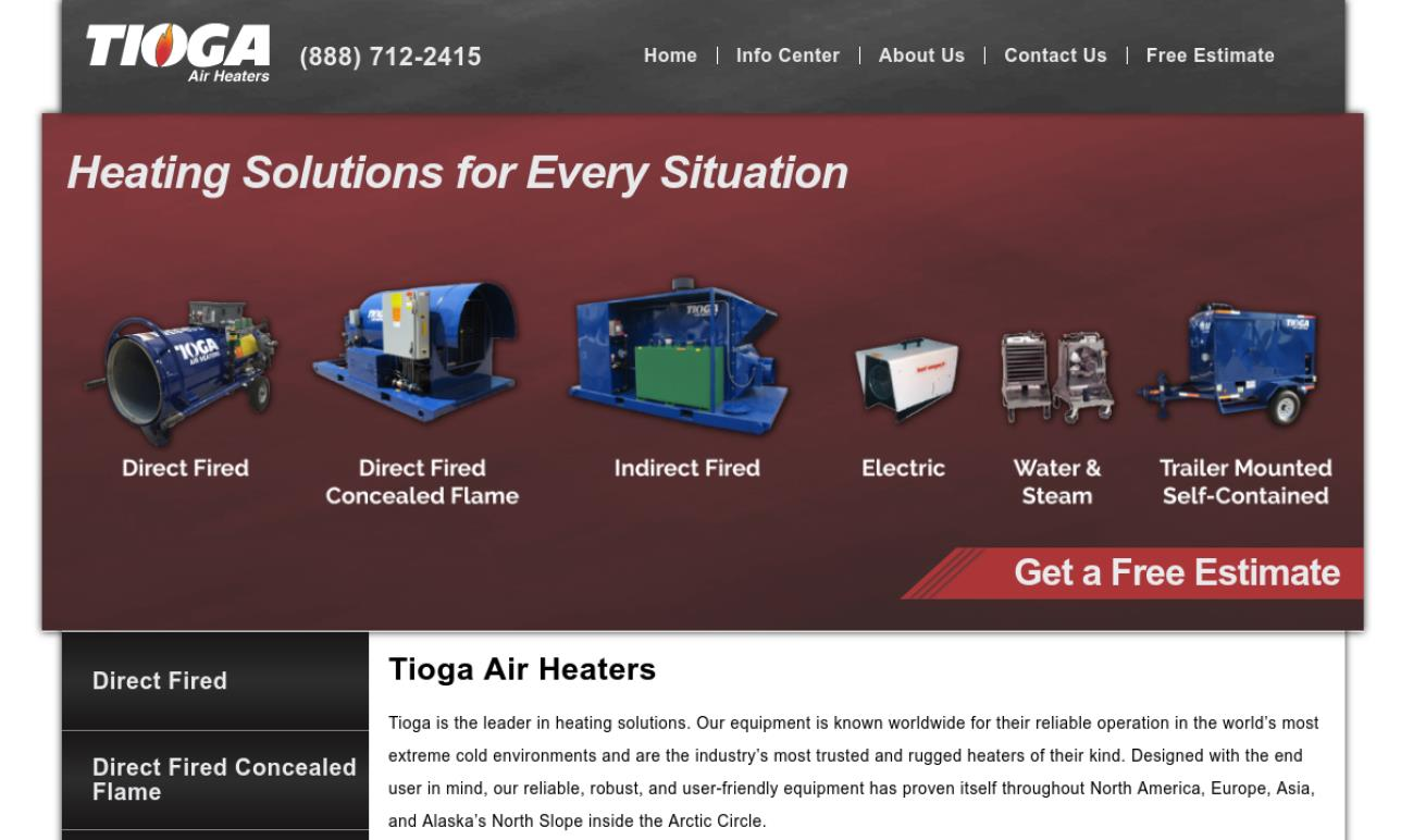 Tioga Air Heaters